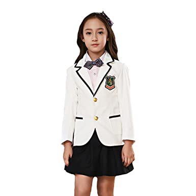 dd27f73043666 (AIMI)子供服 スーツ 女の子 子供スーツ 正統派ガールズ スカートスーツ4点