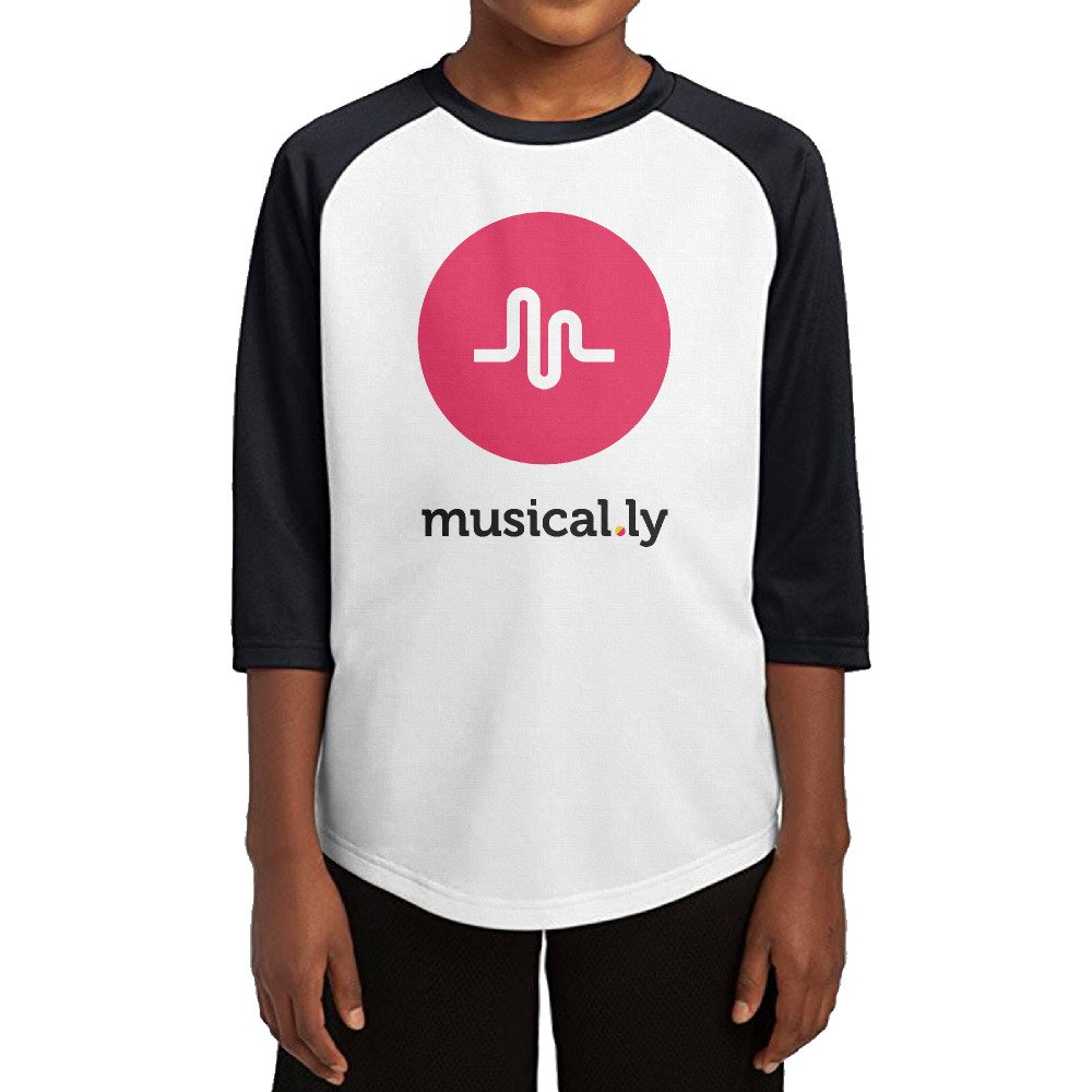 Kid's Boys & Girls Musical.ly 3/4 Sleeve Baseball Raglan T-Shirt lloojj