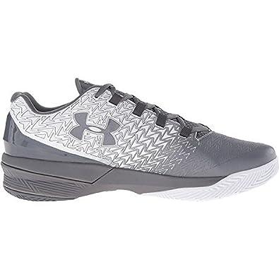 3f8a58a62d06 Under Armour Men s UA ClutchFit Drive 3 Low White Graphite Graphite Sneaker  10