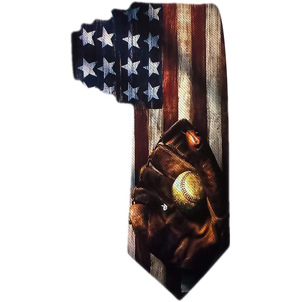Corbatas de béisbol de la bandera americana para hombre Corbata de ...