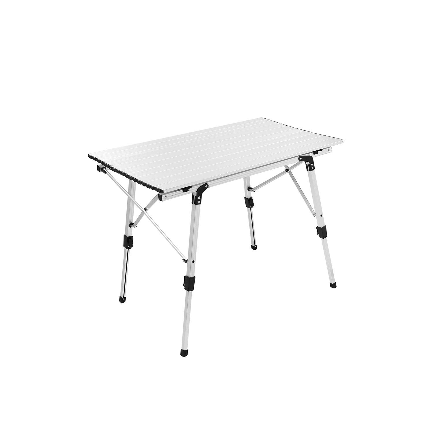 Tiptiper Roll up Table Camping Table 35.4 x20.3 Folding Table with Carrying Bag, Portable Picnic Table for BBQ, Cooking, Outdoor and Home Use