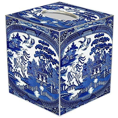 Marye-Kelley Blue Willow Tissue Box Cover