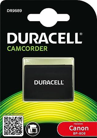 Duracell DR9689 - Batería de videocámara 7.4 V, 850 mAh (reemplaza batería Original de Canon BP-808)