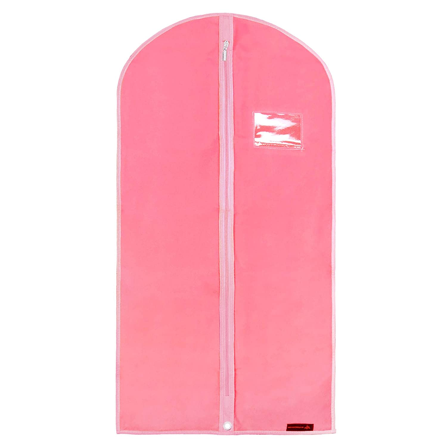 HANGERWORLD 38 Inch Pink Breathable Girls Dress Garment Clothes Cover Zipped Bag for Dance Wear Z-38-BR-PINK
