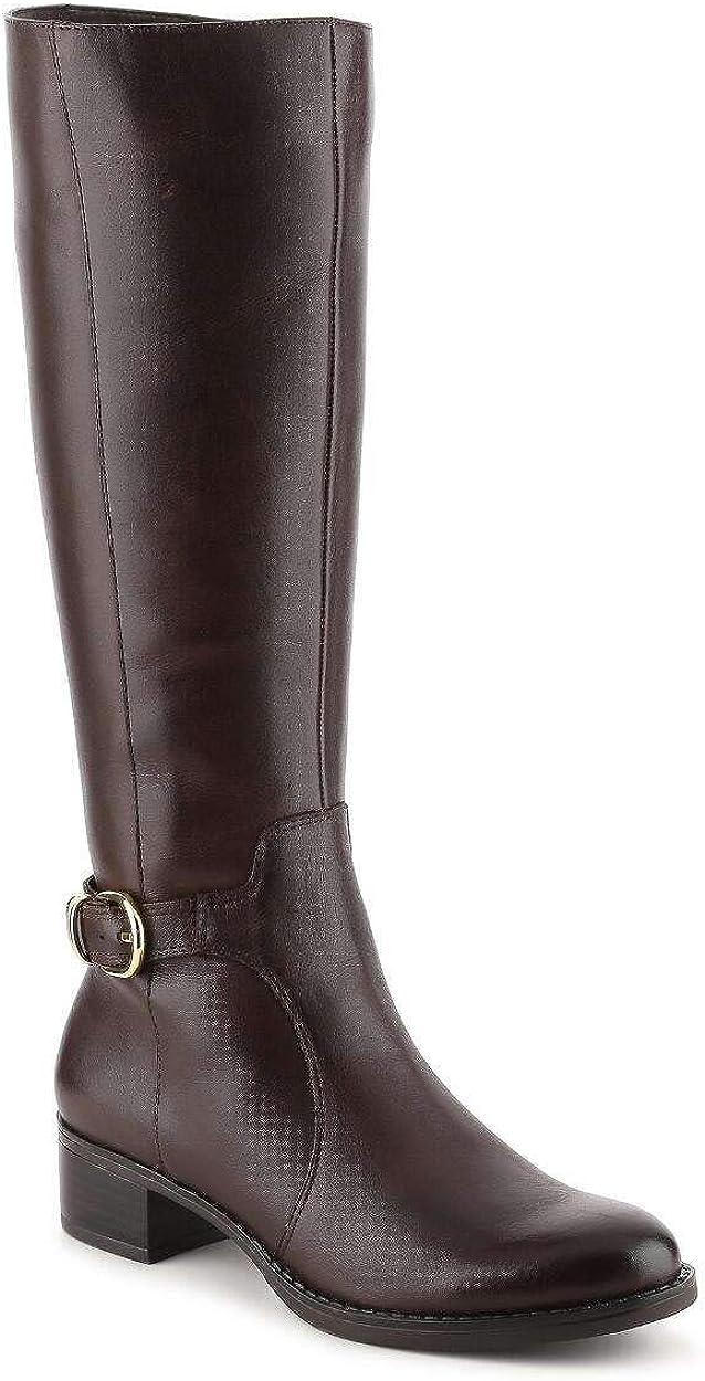 Franco Sarto Womens Cecily Leather Closed Toe Over Knee Fashion Boots