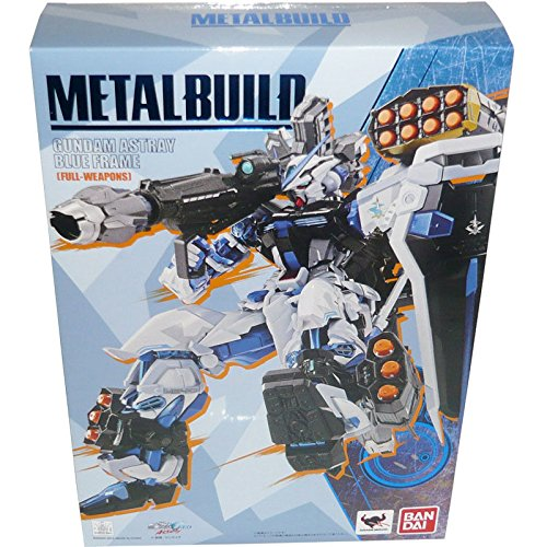 "Bandai Tamashii Nations Metal Build Astray Blue Frame ""Gundam Seed Astray"" Full Action Figure Weapon Set"