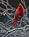 Dimensions Counted Cross Stitch Kit, Ice Cardinal