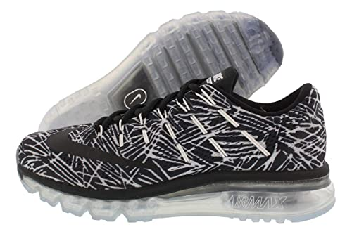 brand new 16e9b 251e4 Nike Women s WMNS Air Max 2016 Print Running Shoes, Blanco (White Black-