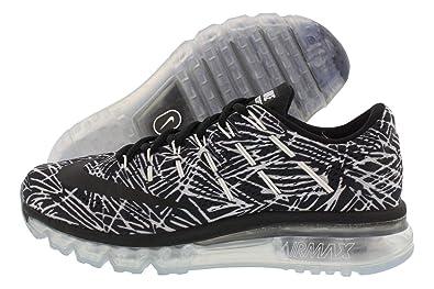 the best attitude 5f27e d5d90 Nike WMNS Air Max 2016 Print, Chaussures de Running Entrainement Femme,  Blanc Cassé-Blanco (White Black-Black), 38 EU  Amazon.fr  Chaussures et Sacs