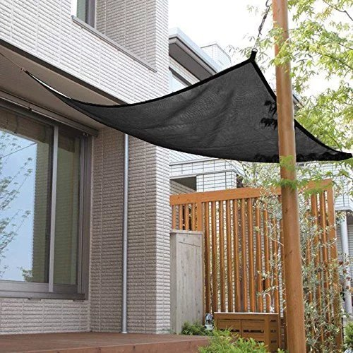 Shatex 90% Black 8x12ft New Design Hanging-up Sunblock shade panel for Window/RV Awning, Sun shelter,Patio (Knitted Shade Panel)