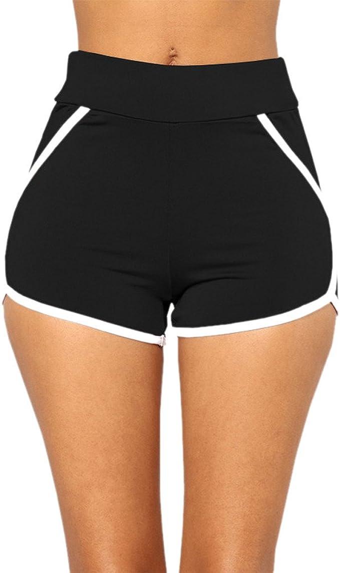 Amazon.com: Gillberry High Waist Out Pocket Yoga Short Tummy ...
