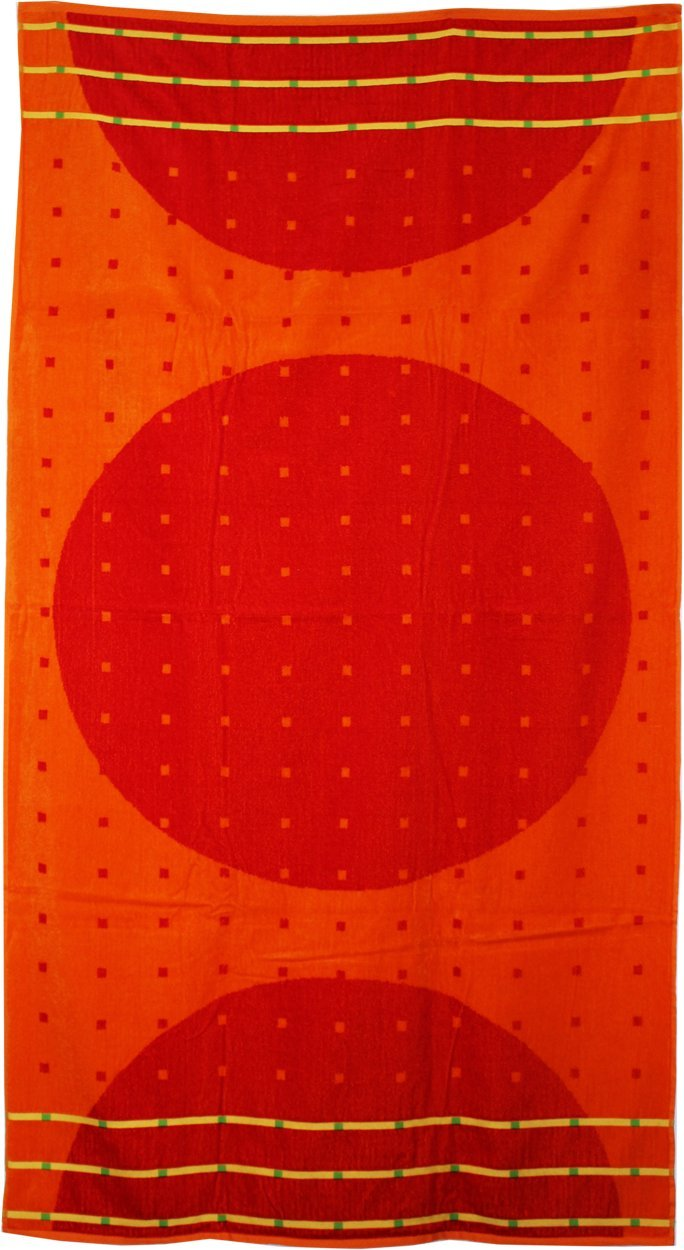 Northpoint Kerala Oversized Double Jacquard Plush Velour Beach Towel, 40 by 70-Inch, Niranam Sunsets