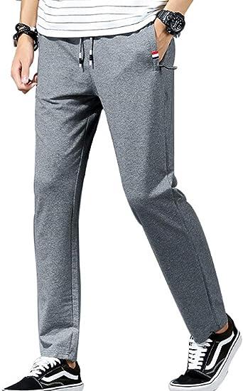 Inlefen Hombres Ocio Deportes Cintura Elástica Pantalones Largos ...