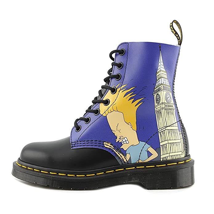 f1f18b6e9ba88 Dr. Martens - Mens Pascal 8 Eye Boot, UK: 13 UK, Black+White: Amazon.co.uk:  Shoes & Bags