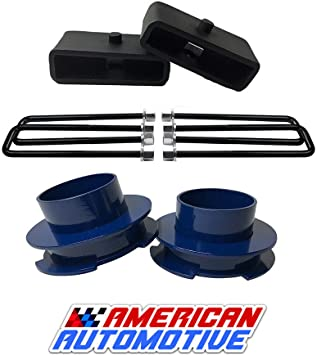 Leveling Lift kit Fits Ford F-150 2004-2019 2WD 4WD,Glorider 3Front Strurt Spacers 3 Rear Tappered Steel Lift Blocks with 4 Extended Zinc Plated Ubolts Suspension Lift kits