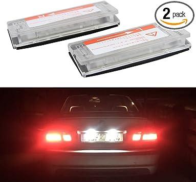 2pcs Super White LED License Plate Lights For BMW 3 Series E46 4D Sedan 5D Wagon