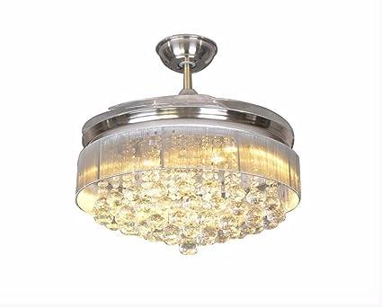 Kristall Led Kronleuchter ~ Sdkky home kristall unsichtbar fan restaurant deckenventilator