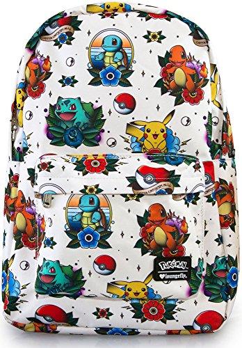 Loungefly Pokemon Tattoo Backpack Cream-Multi