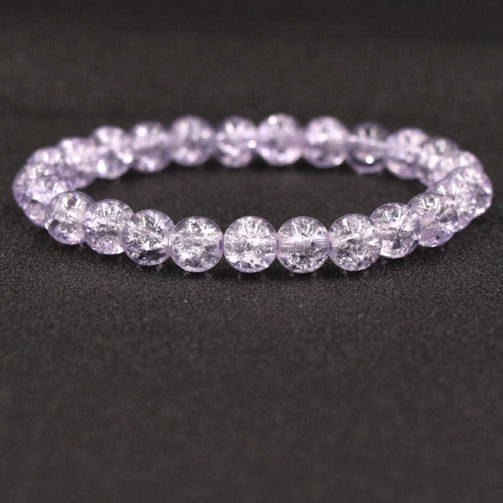 Magssdy Pulsera Pulsera de Cristal de Piedra Natural para Mujer Encanto con Cuentas de grieta Pulsera Hecha a Mano para Mujer Bracciali