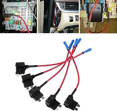 Amazon.com: 12V Car Add-A-Circuit Fuse Tap Adapter Mini ATM APM Blade Fuse  Holder Back Standard Blade Fuse Box Holder Plug Socket: AutomotiveAmazon.com