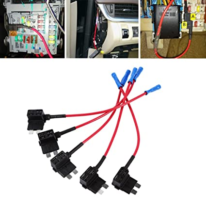 amazon com 12v car add a circuit fuse tap adapter mini atm apm rh amazon com Automotive Fuse Box Wiring 2000 Lincoln Town Car Fuse Box Diagram