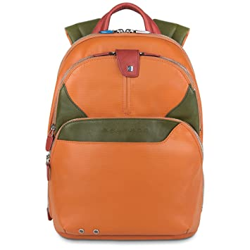 Piquadro CA294 Mochila Casual Daypack Coleos Line,color Naranja: Amazon.es: Equipaje