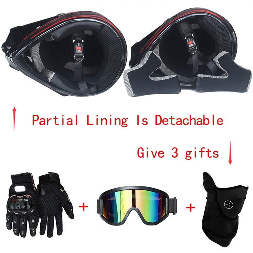 Kreative Pers/önlichkeit Lokomotive Mountainbike Helm Set von 4 Handschuhe maske Brille XL SK-LBB Motorrad helm Motocross Helme City Helme BMX Helme Motorrad Crosshelme