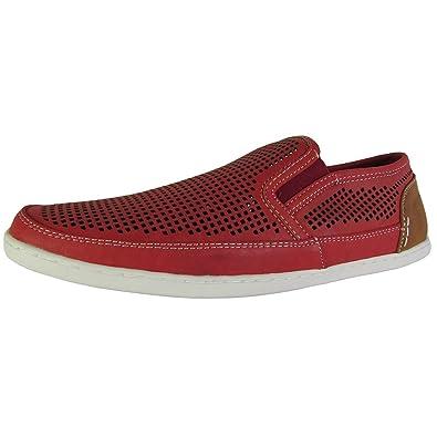 0a28bfa4fd51f Steve Madden Mens Factionn Perforated Slip On Loafer Shoes