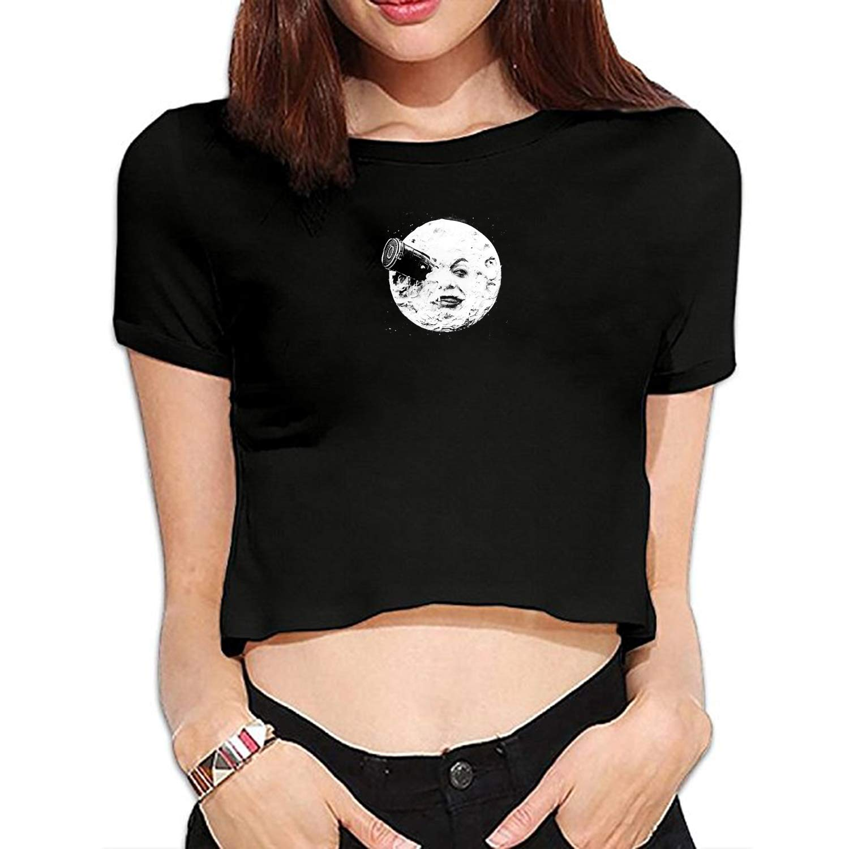 YLJH Women Top Tee Shirts The Moon Graphic T-Shirts