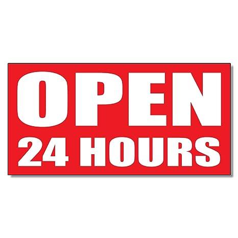 Amazon.com: Abierta 24 HORAS vinilo tienda al por menor de ...