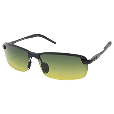 6b7df5aa8e LZXC Men s Driving Polarized Sunglasses with Adjustable AL-MG Black Frame  Day and Night Vision