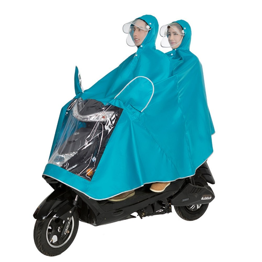 IBLUELOVER Unisex Double Bike/Ebike/Motorcycle/Scooter Cycling Jacket Poncho Raincoat Cape