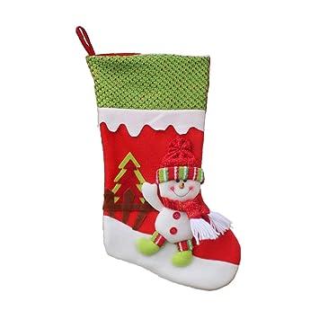 Pull Flannel Calcetines de Navidad de Gran tamaño Calcetines de Navidad Supply Lovely Hanging Ornament Decoration 45cm Navidad Decoracion: Amazon.es: ...
