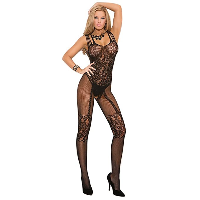 prezzo più basso caratteristiche eccezionali nuova versione Calze a rete sexy nere Ouvert Bodystocking intimo sexy. nero ...