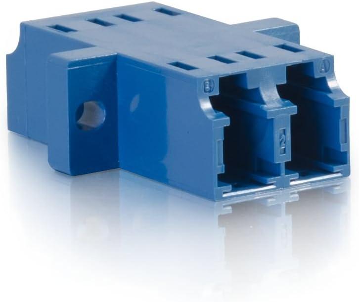 TAA Compliant Blue C2G 27112 LC//LC Duplex Single-Mode Fiber Optic Coupler