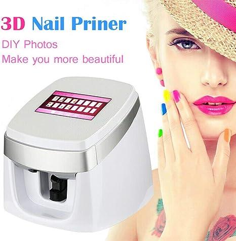 Impresora De Uñas 3D Portátil Arte Digital Pintura Digital De Uñas ...