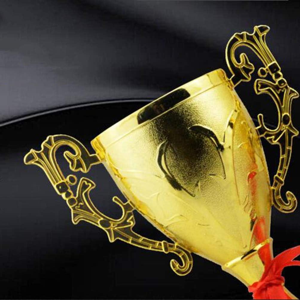 LIOOBO Trofeo de pl/ástico Trofeo de Oro para torneos Deportivos competiciones Escolares Juegos de Fiestas ni/ños 21.5cm