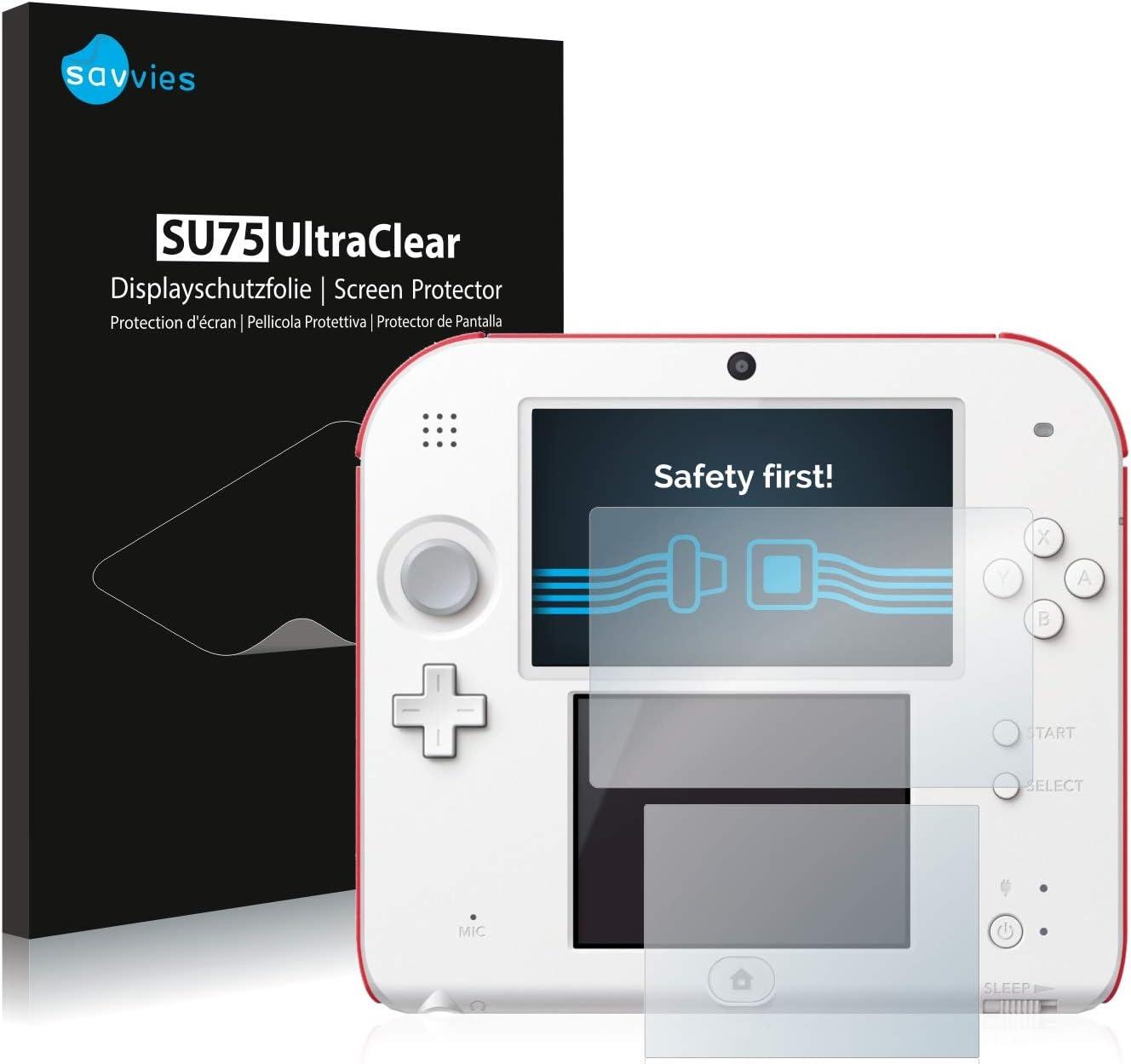 savvies Protector Pantalla Compatible con Nintendo 2DS (6 Unidades) Pelicula Ultra Transparente: Amazon.es: Videojuegos