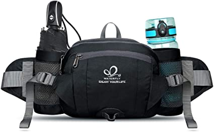 Fanny Pack Waist Bag ~ 2 Water Bottle Holder Pouch Outdoor ~ New