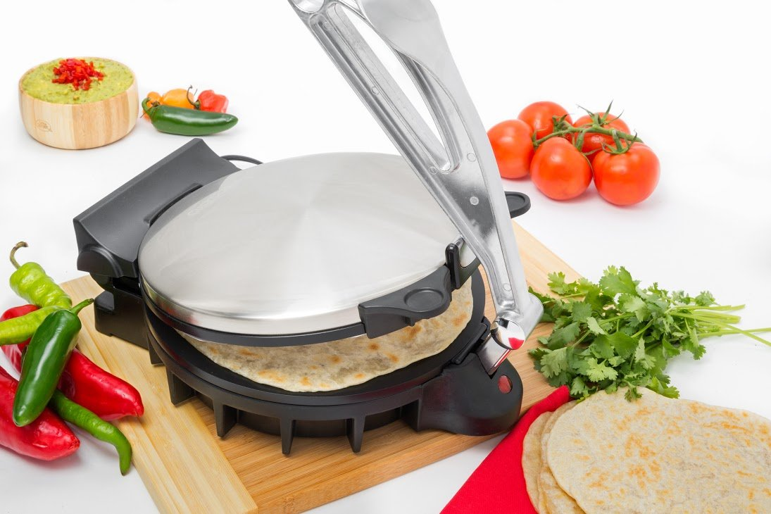 Amazon.com: Electric Tortilla Maker- Homemade Flatbread, Pitas ...