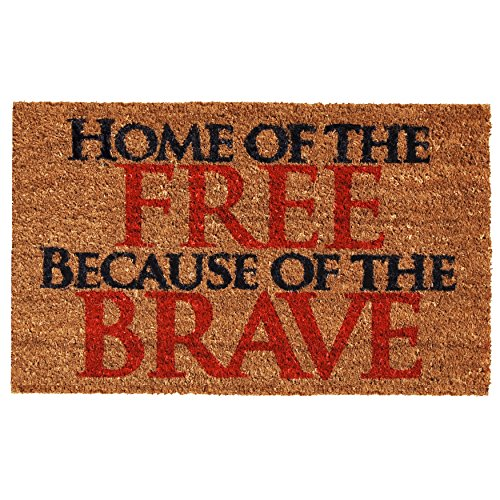 "Home & More 121281729 Home of the Free Doormat, 17"" x 29"" x"