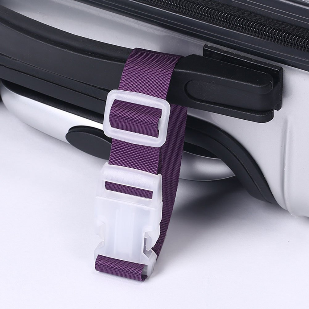 Pink WINOMO Portable Luggage Clamp Holder Gripper Strap for Bags Suitcases