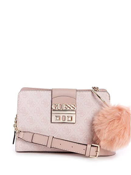 84e2fbc25216b7 GUESS Logo Luxe Crossbody Blush: Amazon.co.uk: Shoes & Bags