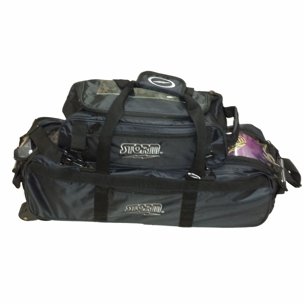 Storm Tournament 3 Ball Tote Roller Bowling Bag- Black () by Storm Bowling Products