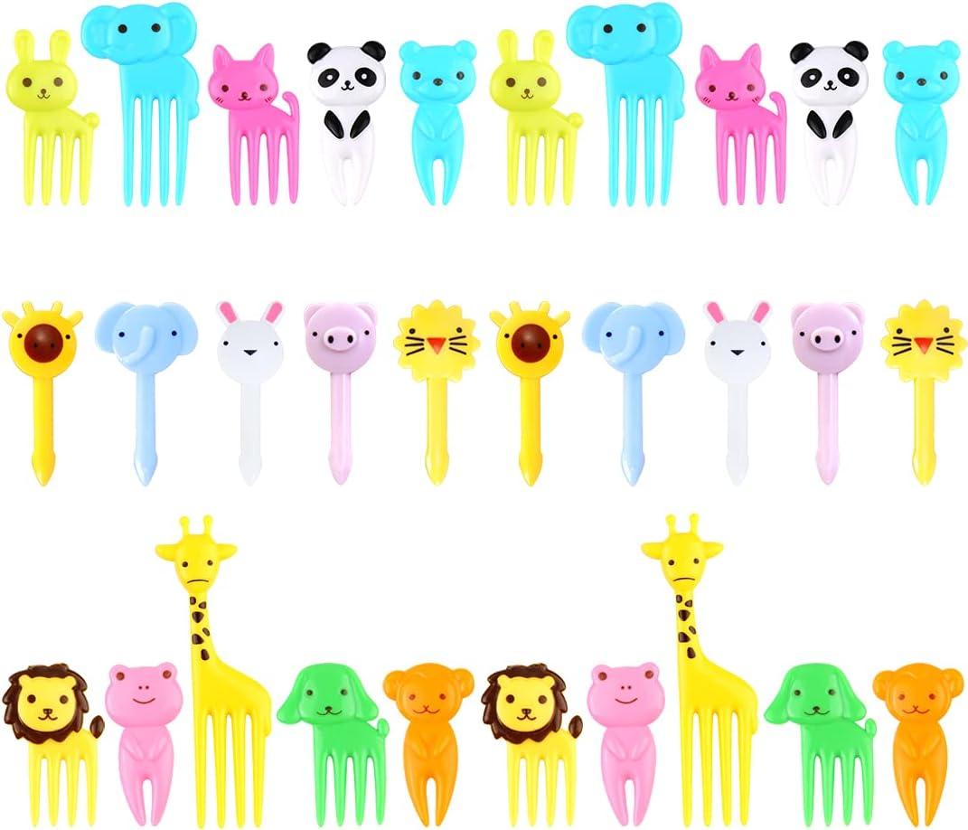 Animal Food Picks for Kids, 30PCS Toddler Food Picks, Cute Bento Picks for Kids, Fun Kids Food Picks for Bento Box Toothpicks, Reusable Lunch Picks for Kids Bento, Lunch Box Picks for Kids