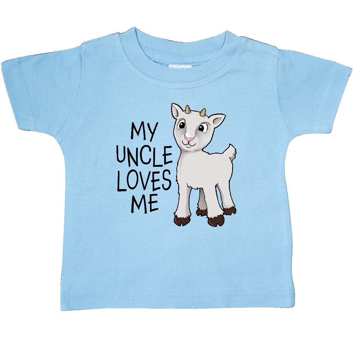 inktastic My Uncle Loves Me Cute Goat Baby T-Shirt