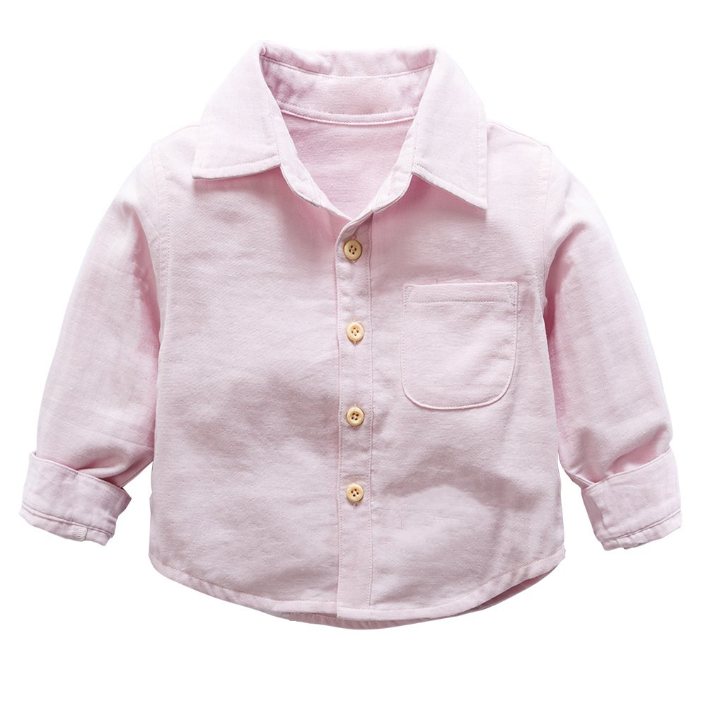 Brightup Kids Baby Boy Shirt 2018 Children's Long-Sleeved Shirt Little Girl  Casual Blouse Autumn Spring Warm Tops: Amazon.co.uk: Clothing