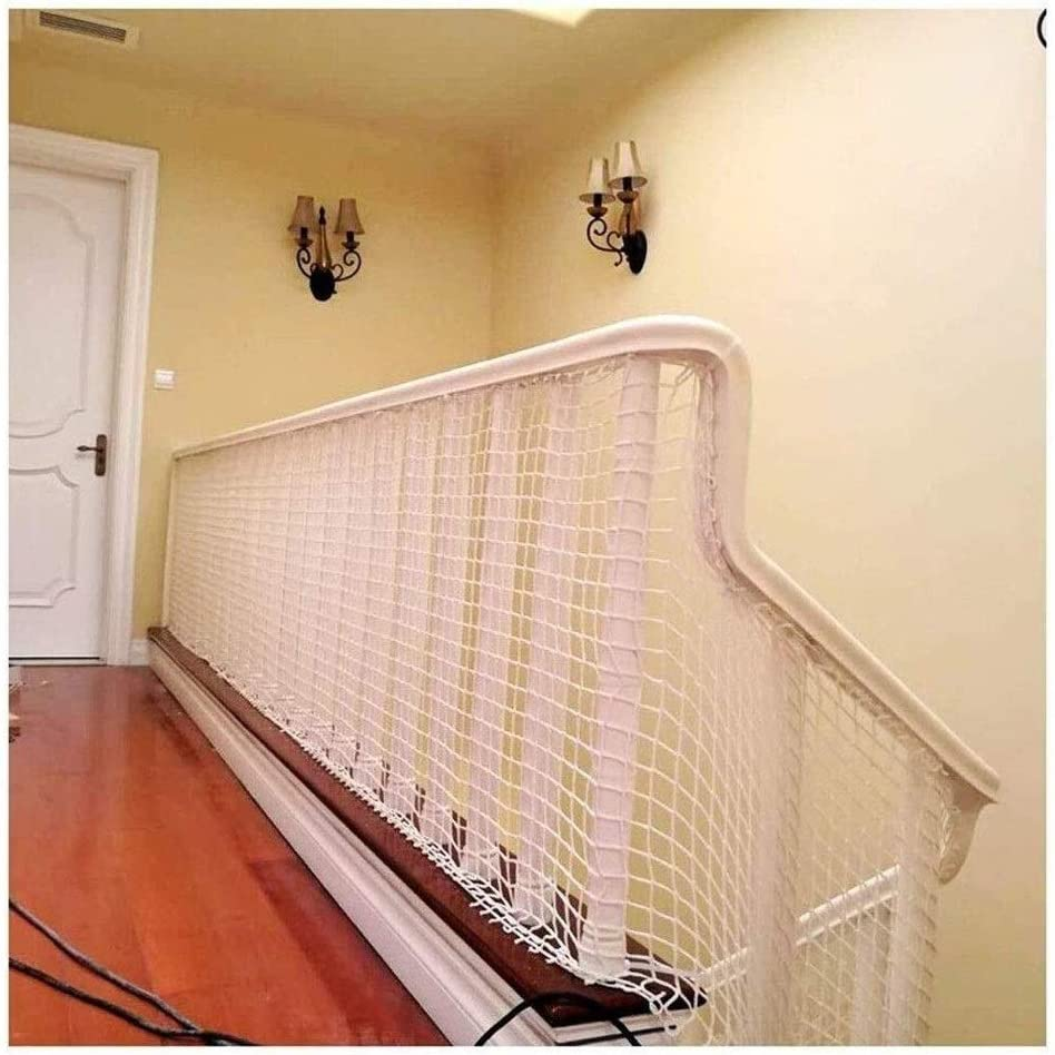 Size : 1x3m SunYaZhou Nets Safety Net Protection Net Outdoor Pet Fence Net Plant Net Restaurant Ceiling Net Childrens Stairs Balcony Anti-fall Nets Cargo Net White Rope Net