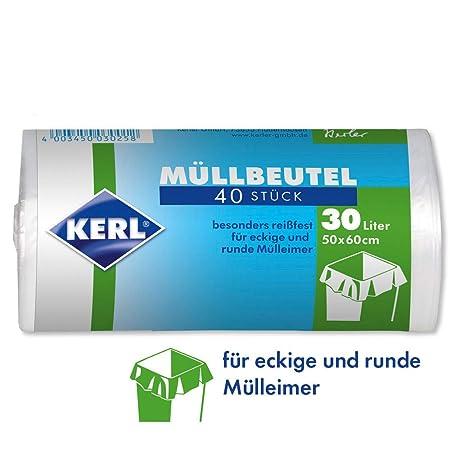 Kerl 4003450030258 - Bolsas de basura (30 L, 40 unidades, 50 ...