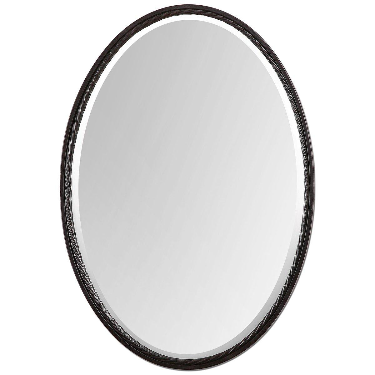 Amazon.com: Uttermost 01116 Casalina Oil Rubbed Oval Mirror, Bronze ...